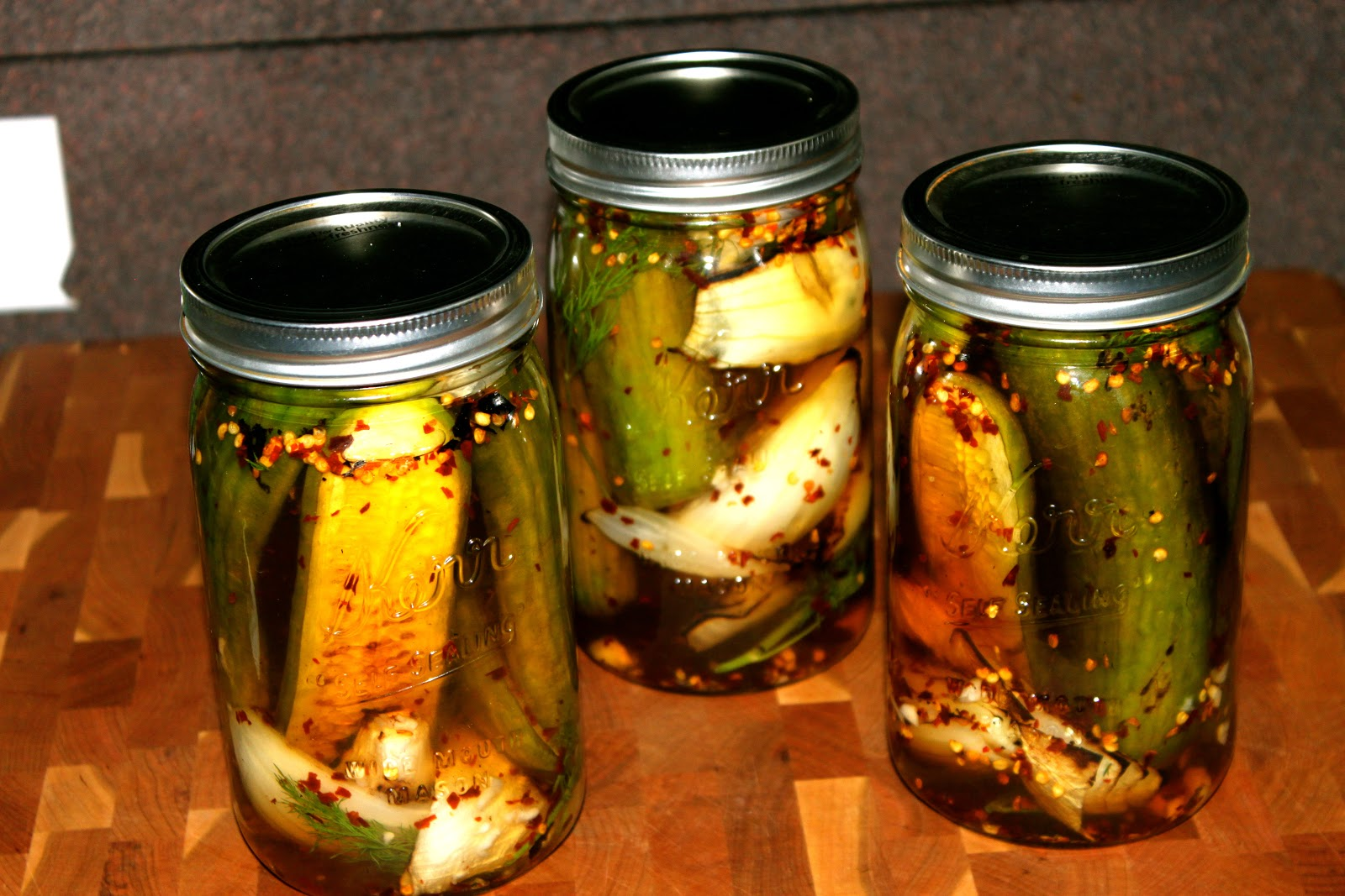 GOBLUEBBQ: Grilled Sweet and SPICY Pickles