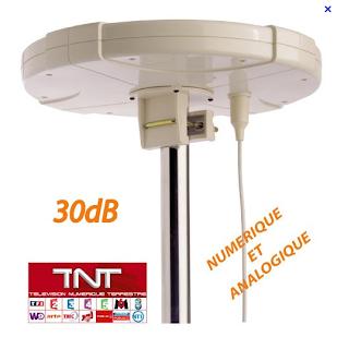 marque Dune antenne omnidirectionnelle 360 pour TNT extérieure amplifié