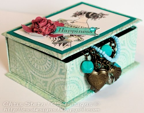 recycled art altered trinket jewelry box