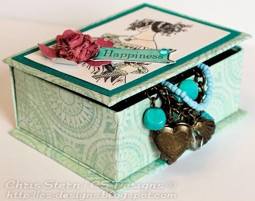 recycled art altered trinket jewelry box