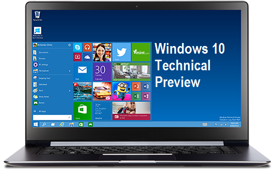 Download Windows 10 Technical Preview x86 / x64 .ISO Files via Direct Links