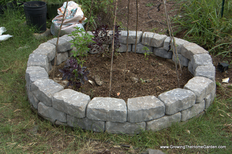 Building a Fall Garden Bed From Stone Retaining Wall Blocks