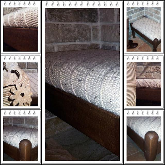 drugie życie swetra,recykling swetra,siedzisko ze swetra,swetrowe DIY,DIY,ławeczka,pufa,na wejściu,do siedzenia