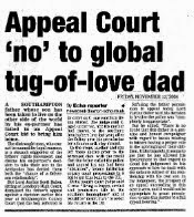 Daily Echo - Appeal Court 'no' to global tug-of-love dad