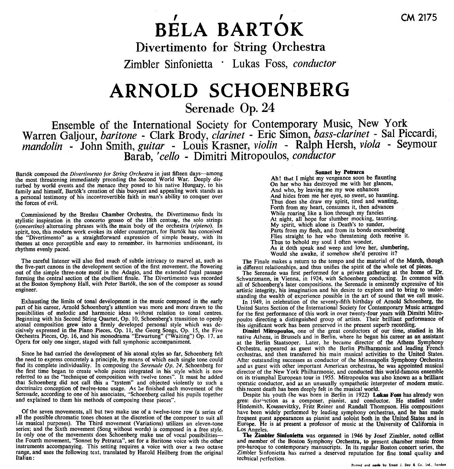 The Zimbler Sinfonietta - Richard Burgin - Music Of The Bach Family Part 2