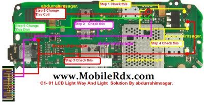 All Gsm Solution: Nokia c1-01 lcd light solution