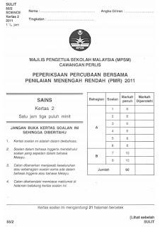 Soalan Percubaan PMR 2011