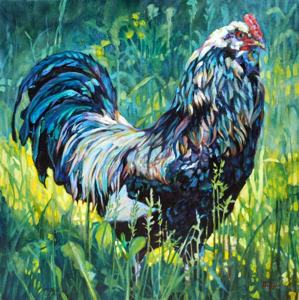 Daily Painters Abstract Gallery Colorful Contemporary Animal