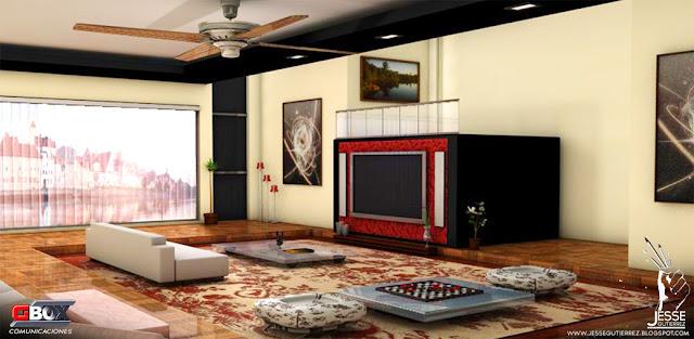 Diseño de interior 3d, Jesse gutierrez art peru,artista peruano 3d diseño 3d