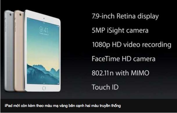 iPad Air, iPad Mini Mới Ra Mắt