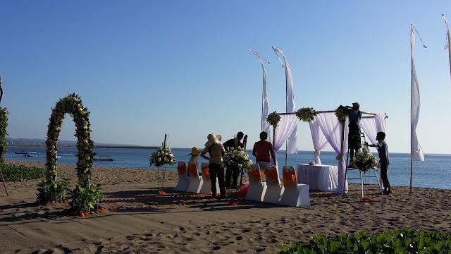 Preparativos para una boda en Bali