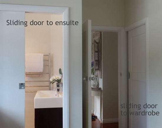 My small en-suite and walk in robe both have efficient sliding doors & Lee Caroline - A World of Inspiration: Space Saving Ideas For The Home