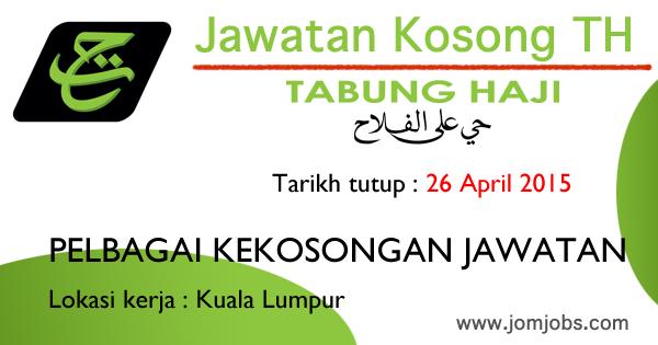 Jawatan Kosong Terkini Lembaga Tabung Haji (TH) April 2015