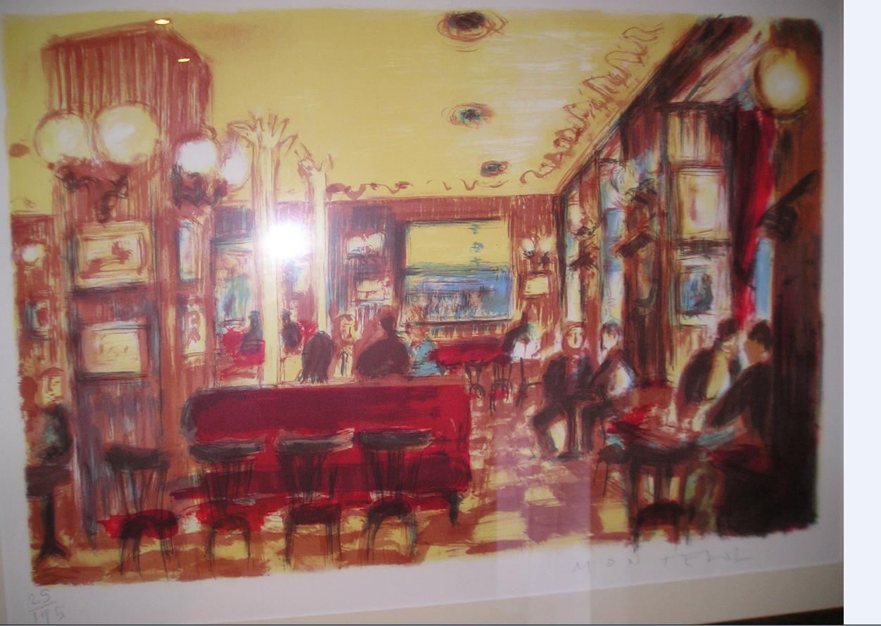 Obra de Montesol titulado: Cafe Gijon