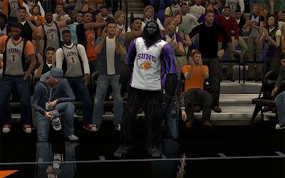 NBA 2K13 Phoenix Suns Gorilla Mascot Patch