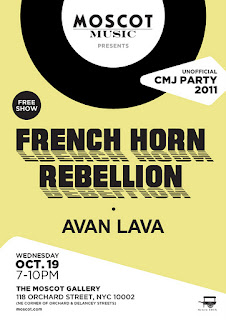 French Horn Rebellion and Avan Lava Play MOSCOT's Unofficial CMJ Party on Oct. 19th