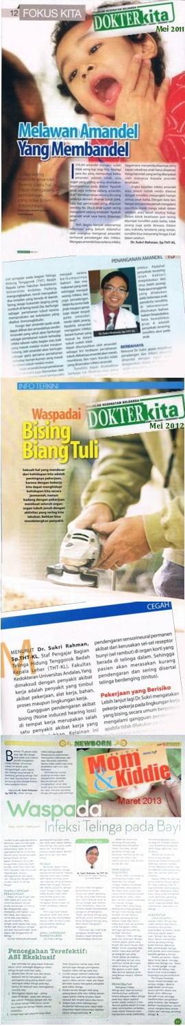 Dr. Sukri Rahman di Majalah & Tabloid