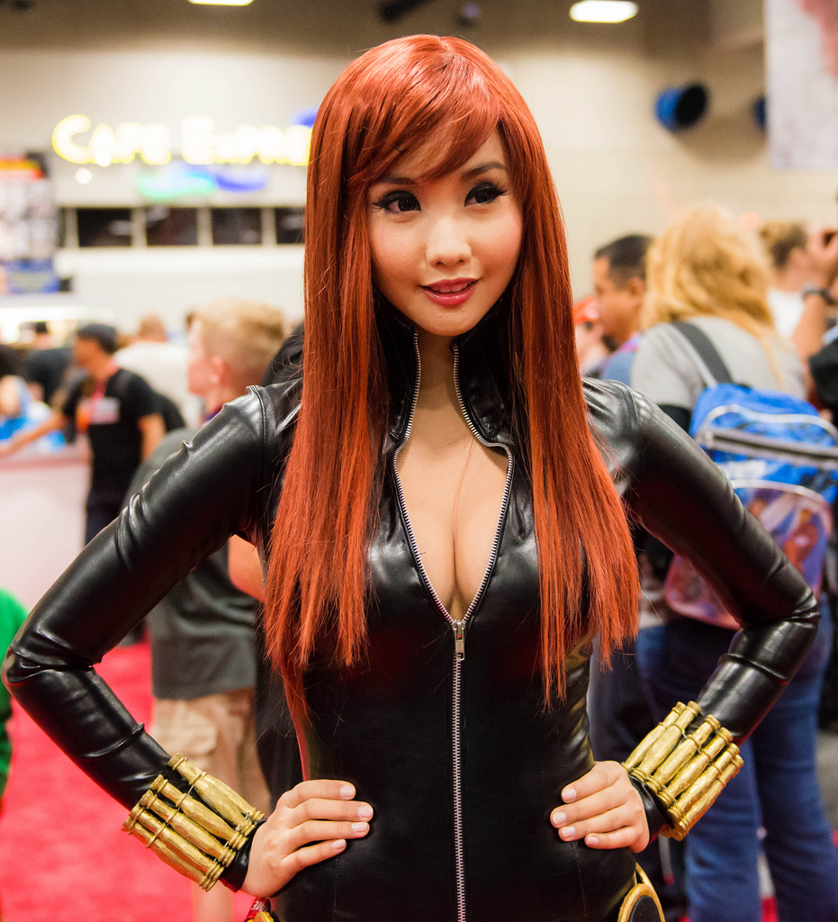 alodia gosiengfiao sexy black widow cosplay 05