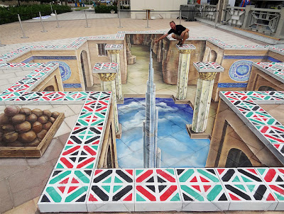 Abu Dhabi Highlights - 3D Chalk Design