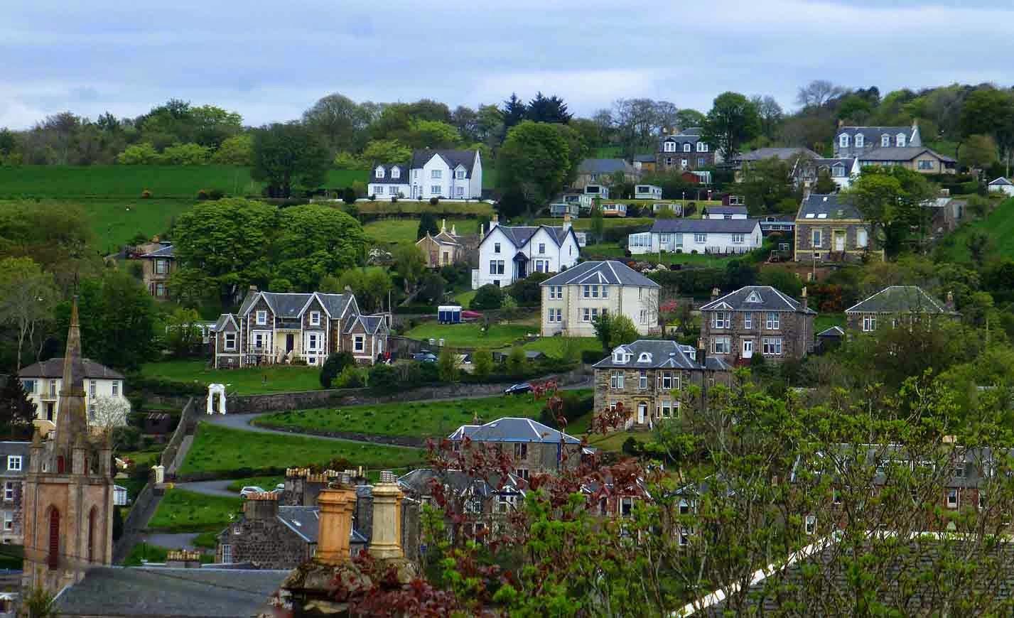 alex and bob s blue sky scotland bute the west island way the