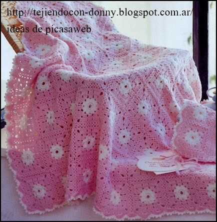 Crochet fabric crochet ganchillo patrones graficos - Colchas ganchillo bebe ...