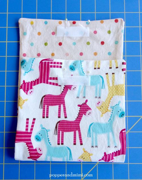 Reusable Fabric Sandwich Bag sew in Velcro | popperandmimi.com