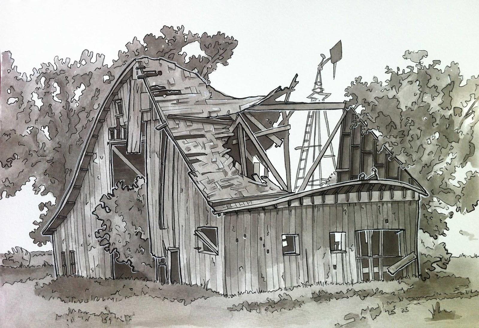 Urban Sketchers Seattle Old Barn
