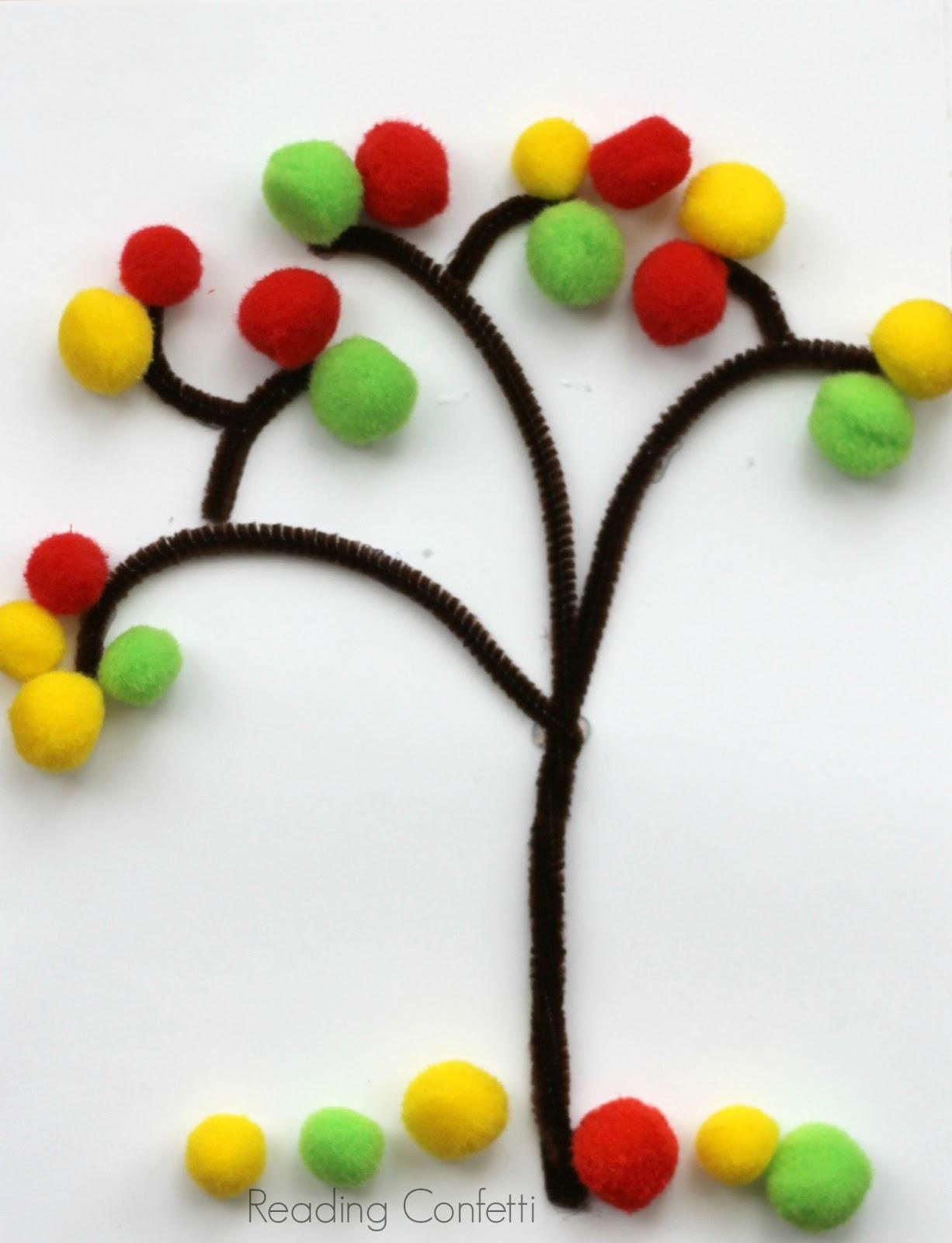 3 easy ways to make a fall tree reading confetti