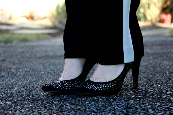 Black Studded Peak Pumps from Aldo