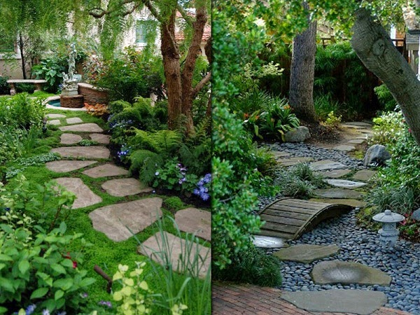 Front walkway backyard ideas for Garden path ideas