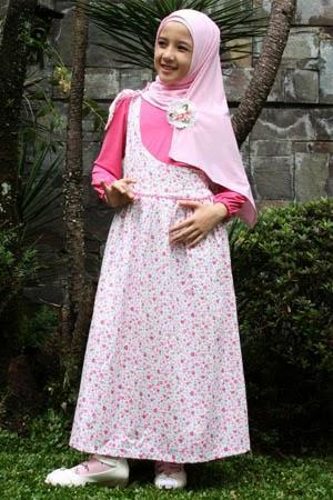 Desain Model Terbaru Baju Muslimah Anak Untuk Lebaran