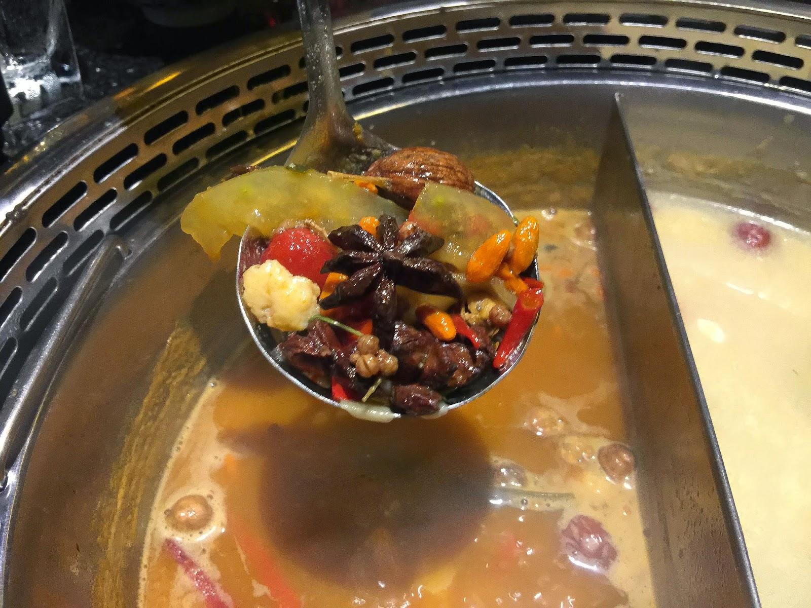 Spices in Szechuan Soup base