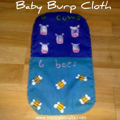 burp cloth tutorial boys and girls muslim blog