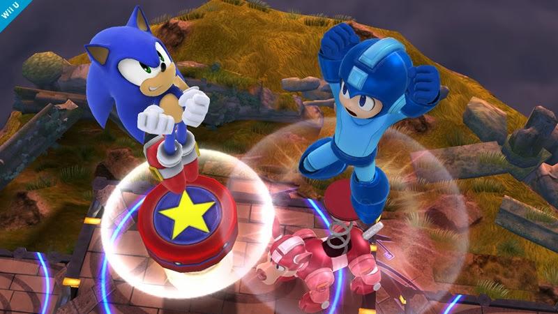 Sonic vs Megaman Smash Bros la imagen de hoy