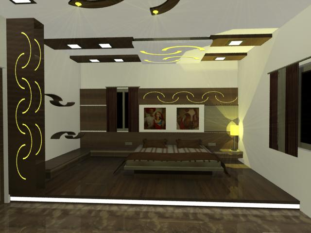 Master Bedroom 3d Design pratik shah: 2 master bedroom 3d design for a bunglow
