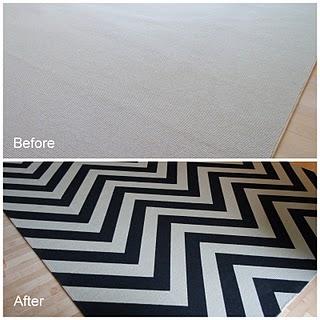 Como reciclar una alfombra a estilo Chevron (diseño zig zag)