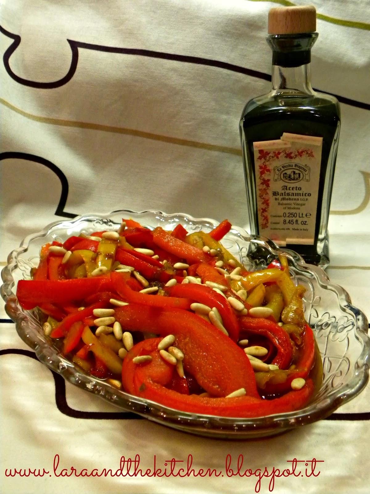 peperoni pinoli aceto balsamico