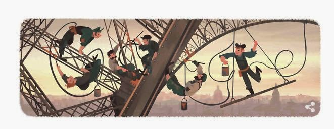 Google New 2015 Doodle For Eiffel Tower Public Open