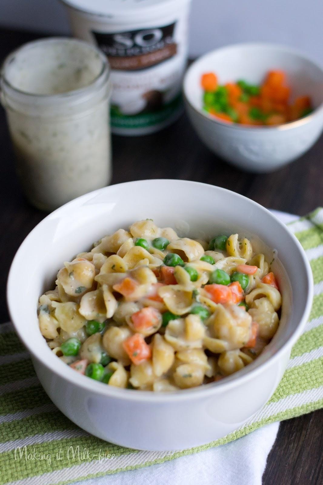 Creamy Ranch Pasta Salad {vegan + gluten free} from Making it Milk-free