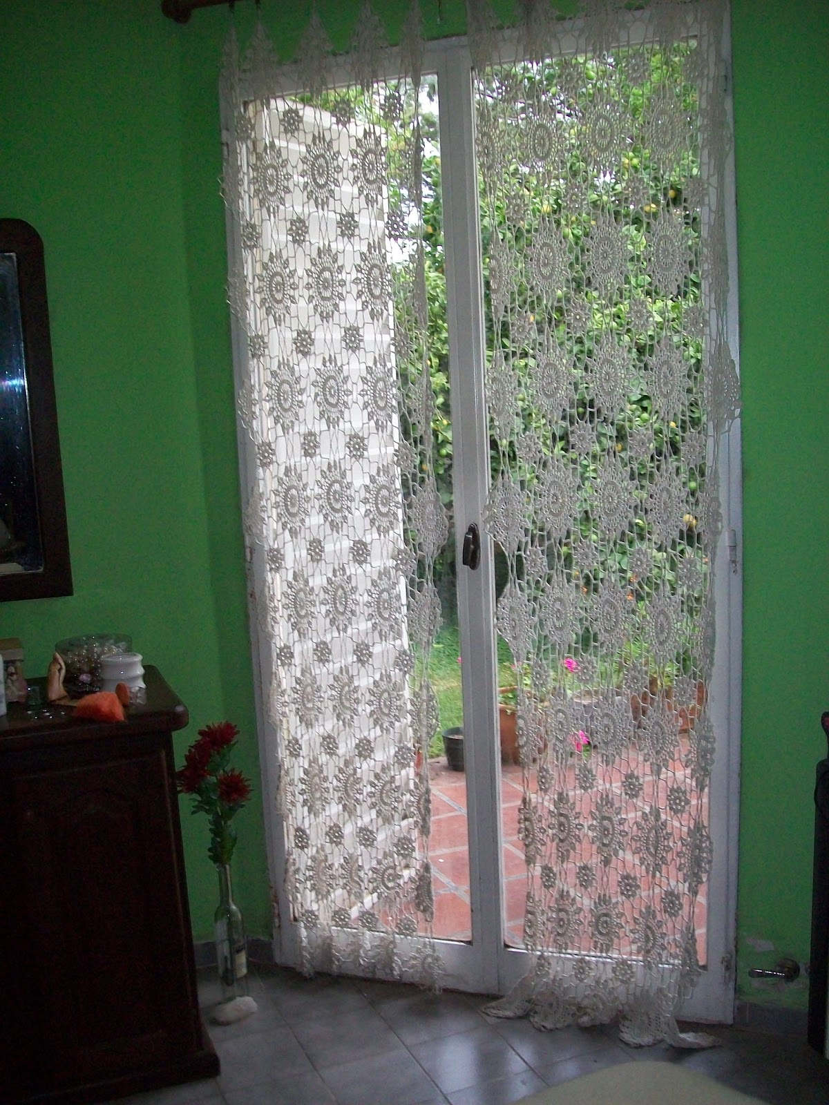 Cortina de flores a crochet new style for 2016 2017 - Como hacer cortinas ...