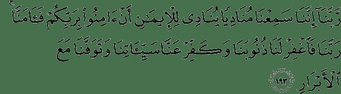Surat Ali Imran Ayat 193