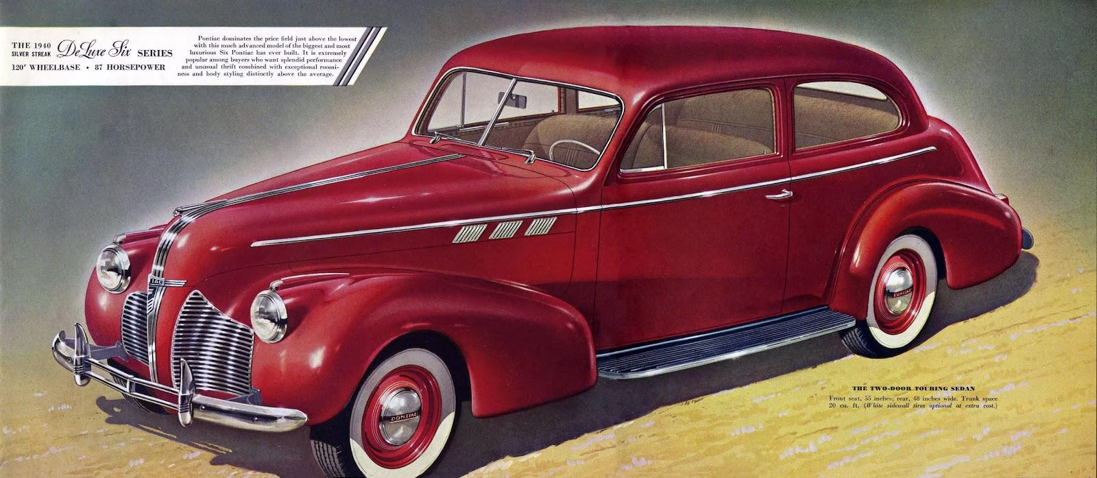 1940 pontiac 2 door touring sedan