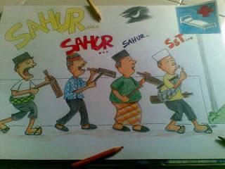 gambar kartun sahur