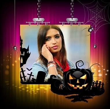 marco de foto halloween