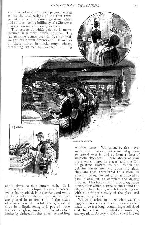 Christmas cracker production - Strand Magazine  - Published December 1891