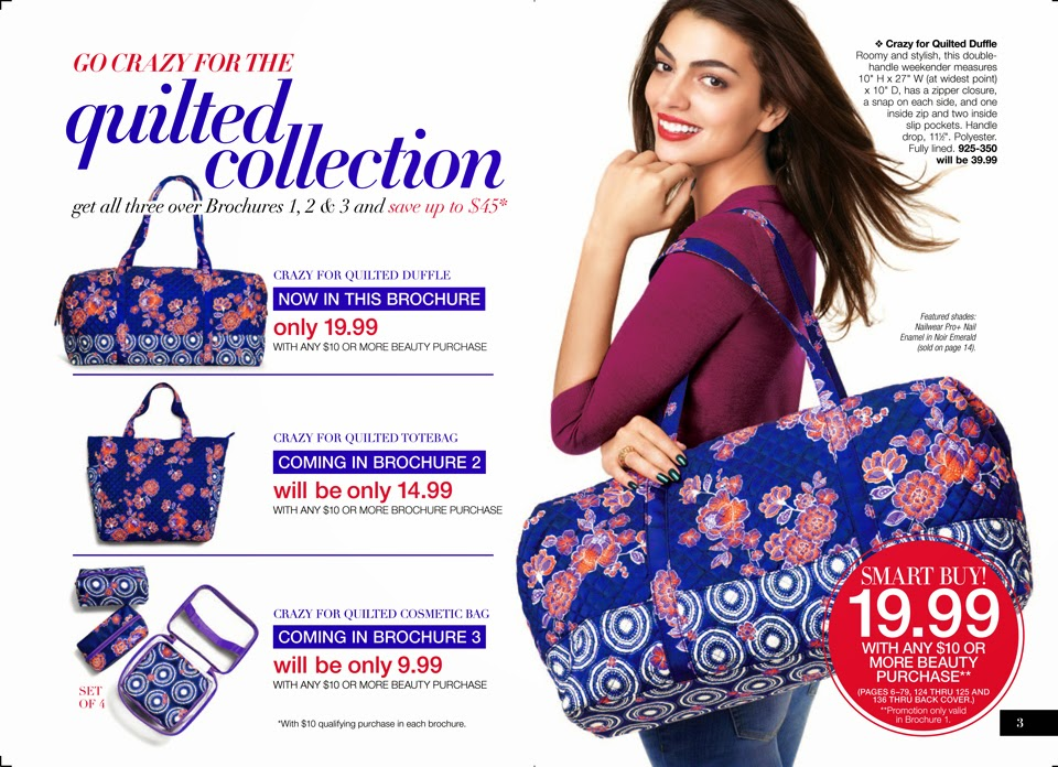 Avon quilted duffle