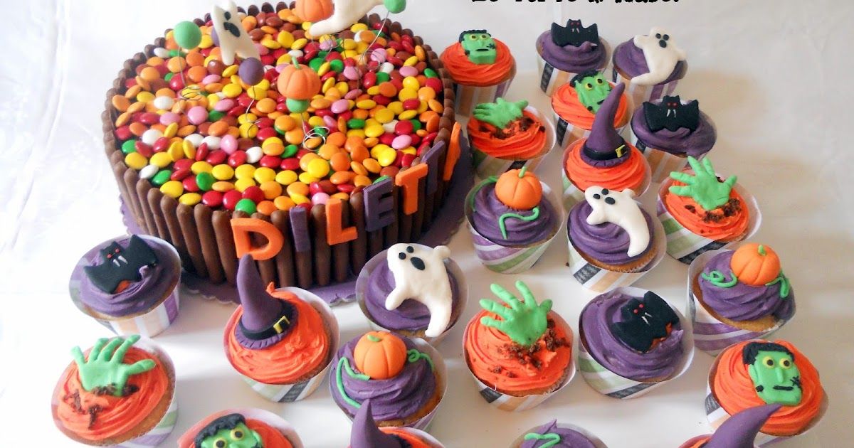 Le torte di isabel torta di halloween con smarties e for Decorazione torte con smarties