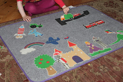 Create a world, giant fuzzy felts