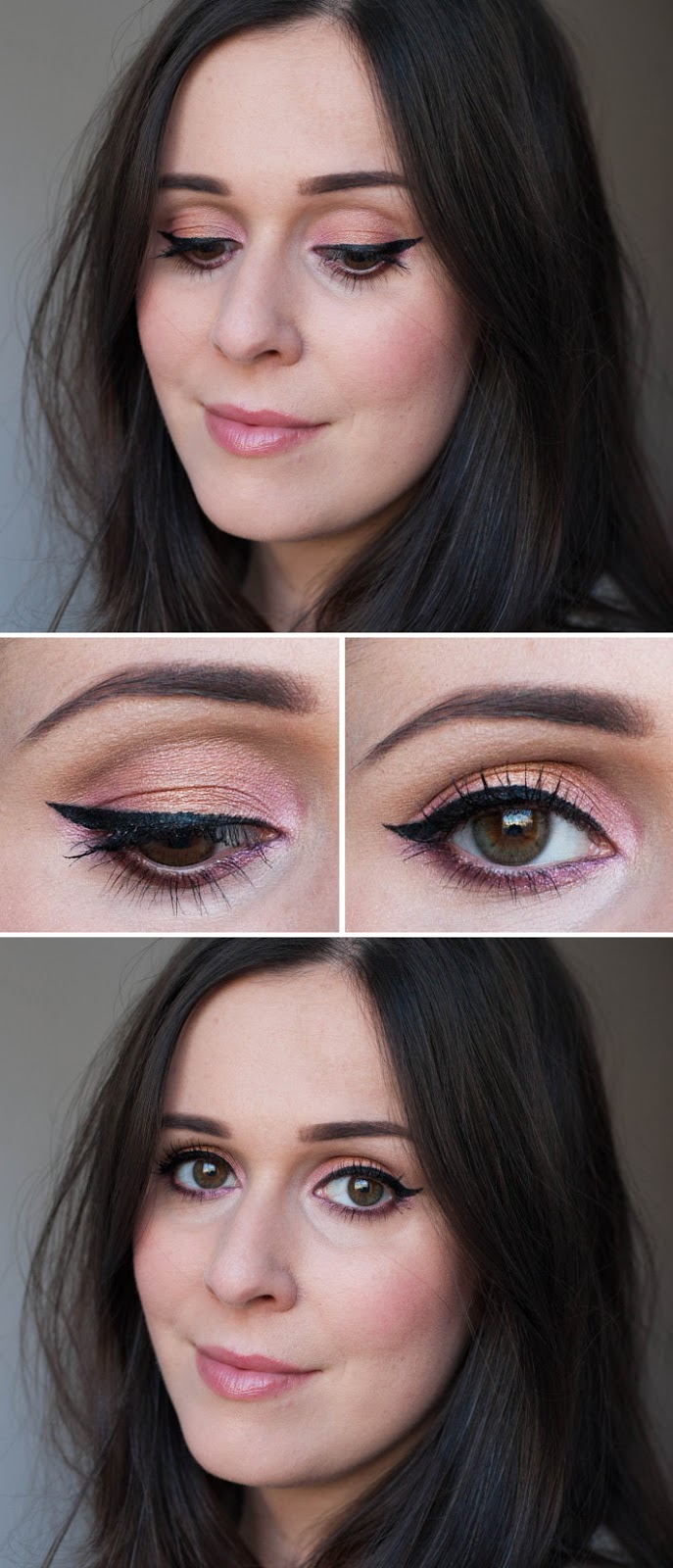 pink cat eye using Urban Decay x Gwen Stefani palette