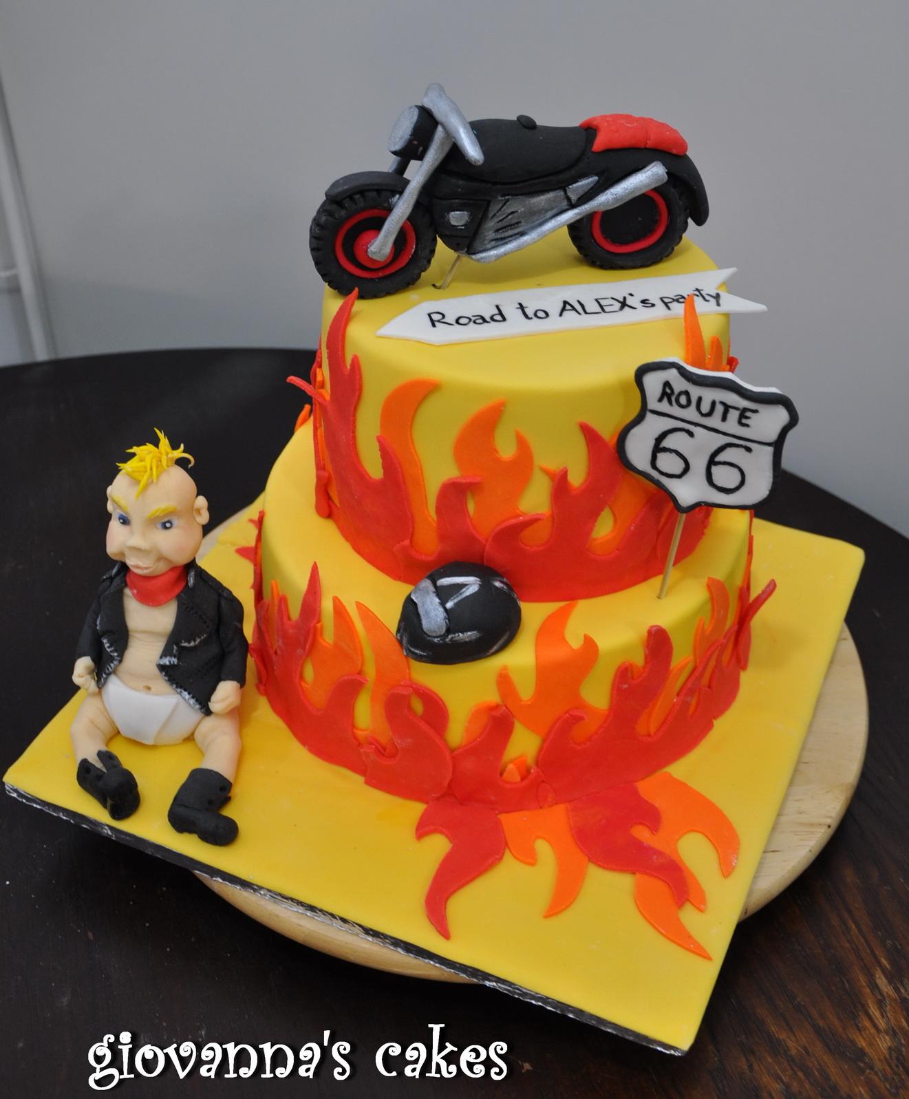 giovannas cakes Biker baby cake